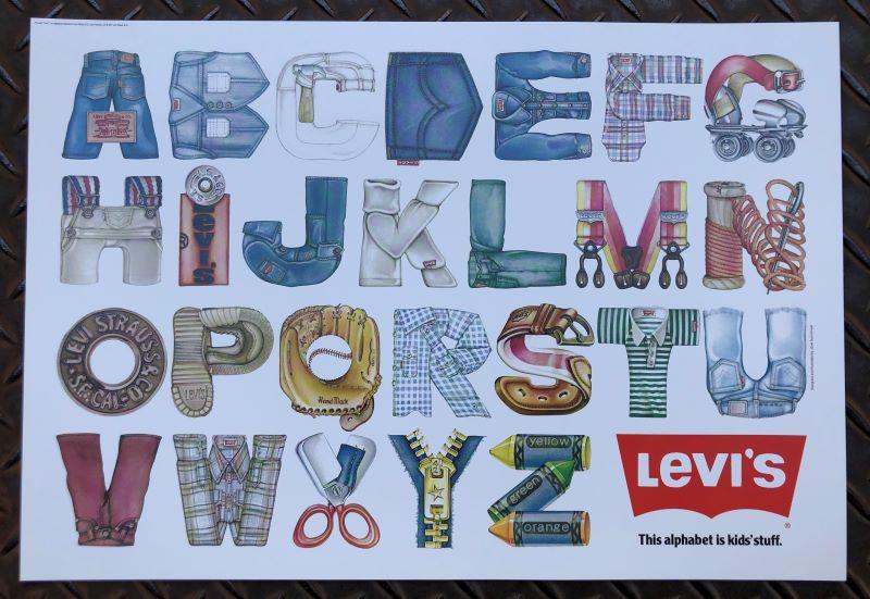 70'S ビンテージ リーバイス(Levis) 販促用 ポスター